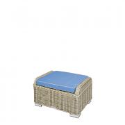 Bennington fotpall med blå dyna